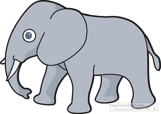 550x392 Clip Art Elephants