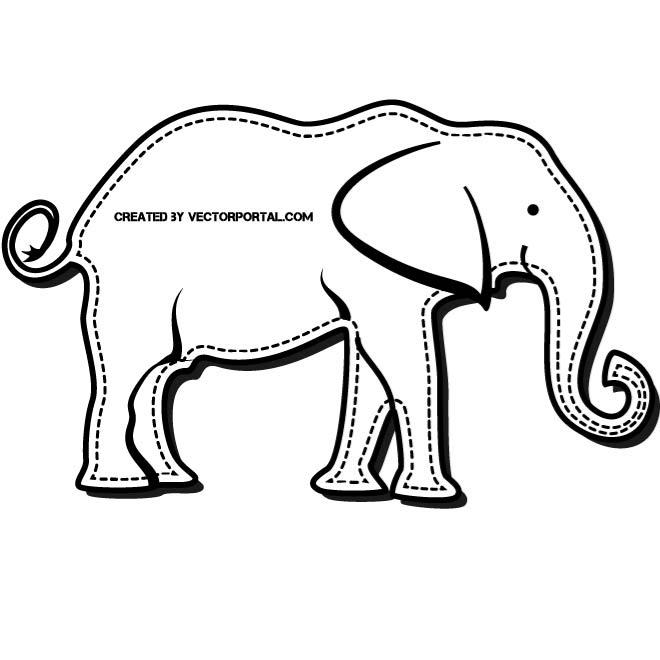 660x660 Elephant Patch Vector