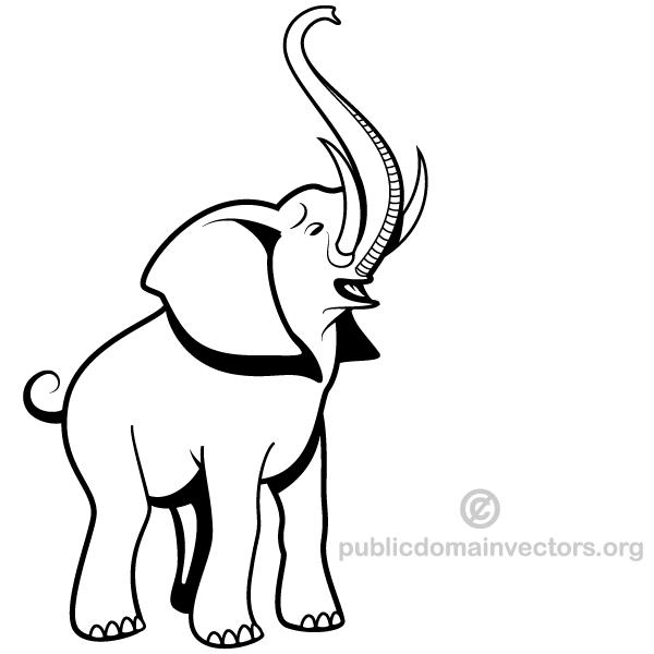 600x600 Elephant Vector Download 123freevectors