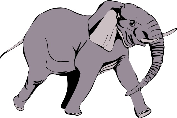 600x401 Elephant Clip Art Free Vector In Open Office Drawing Svg ( Svg