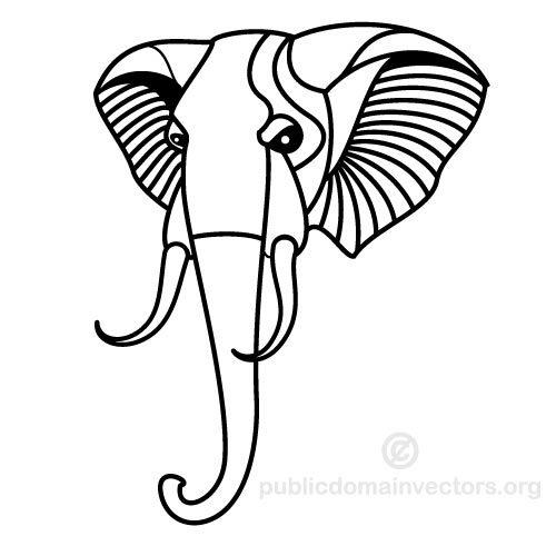 500x500 Elephant Vector Clip Art Public Domain Vectors