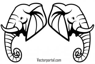 310x211 Free Elephant Head Vector Art Free Vectors Ui Download