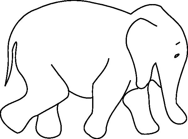 600x444 Line Art Clipart Animal