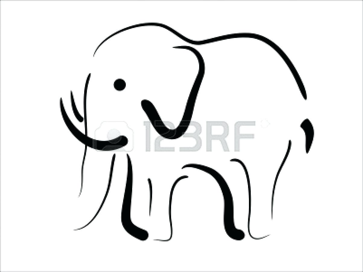 1203x903 Coloring Mesmerizing Elephant Outline Template Baby