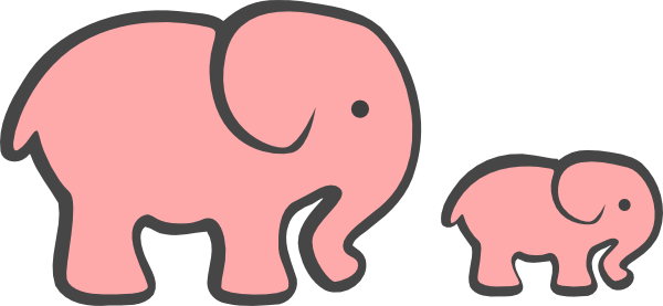 600x277 Elephant Outline