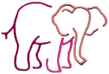 350x237 Elephant Outline Embroidery Design Annthegran