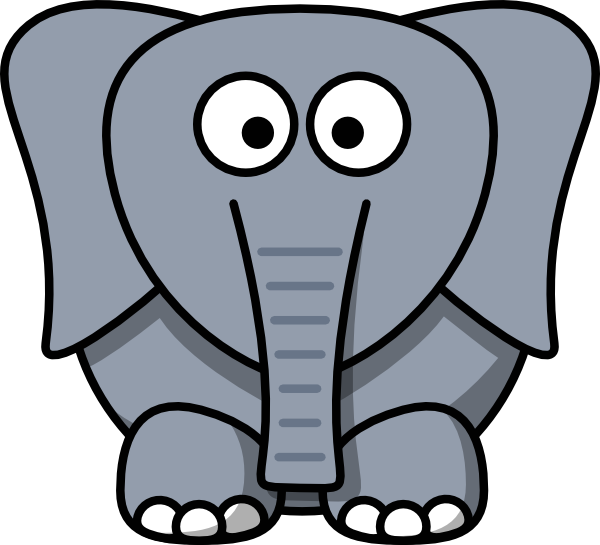 600x545 Outline Face Elephant Clipart