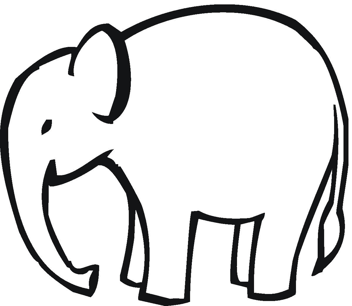 1200x1044 Baby Elephant Outline Clipart Clipart Kid