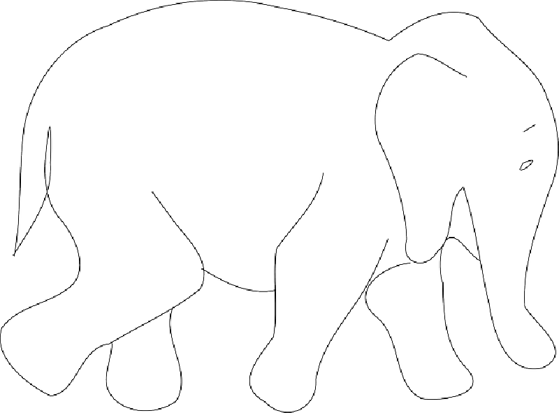 800x591 Simple, Africa, Outline, Elephant, Book, Asia, Art
