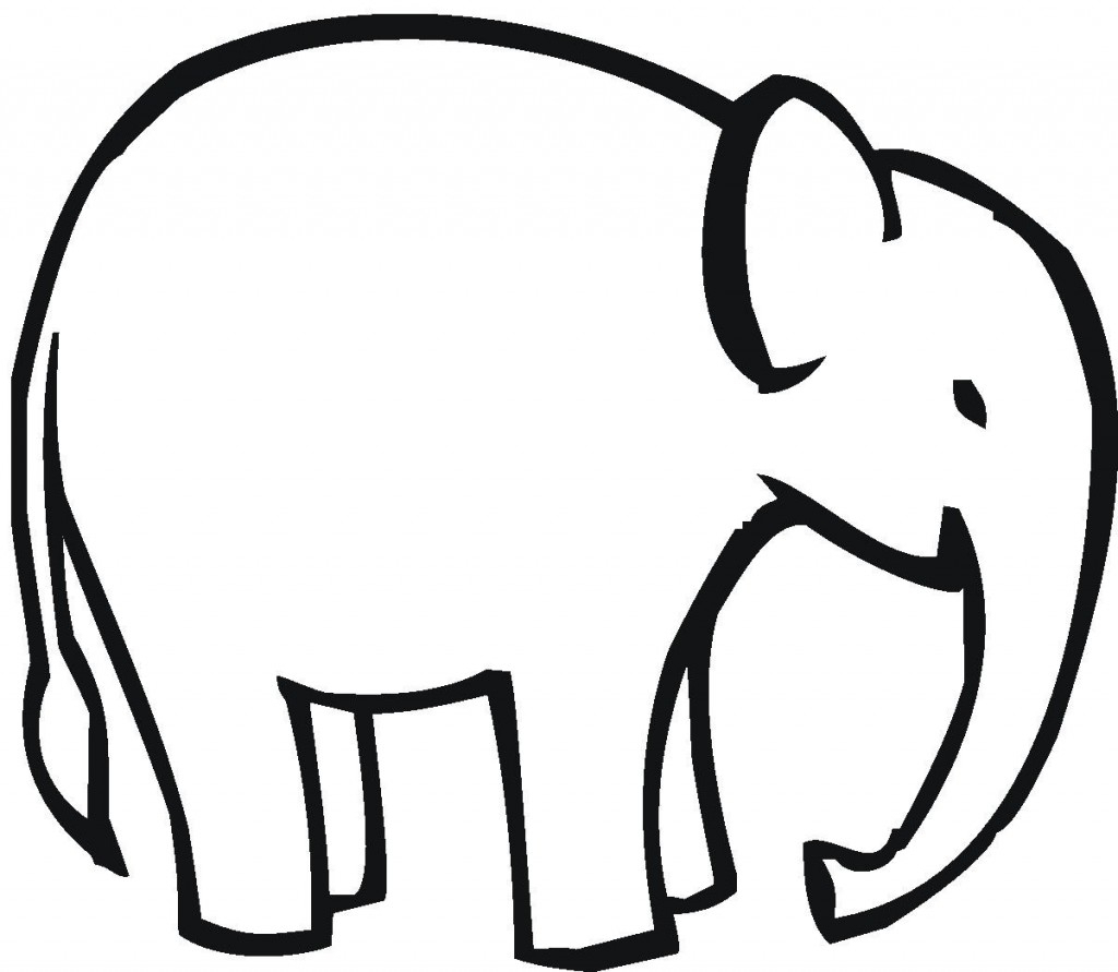 1024x891 Simple Drawing Of An Elephant Elephant Outline Clipartion
