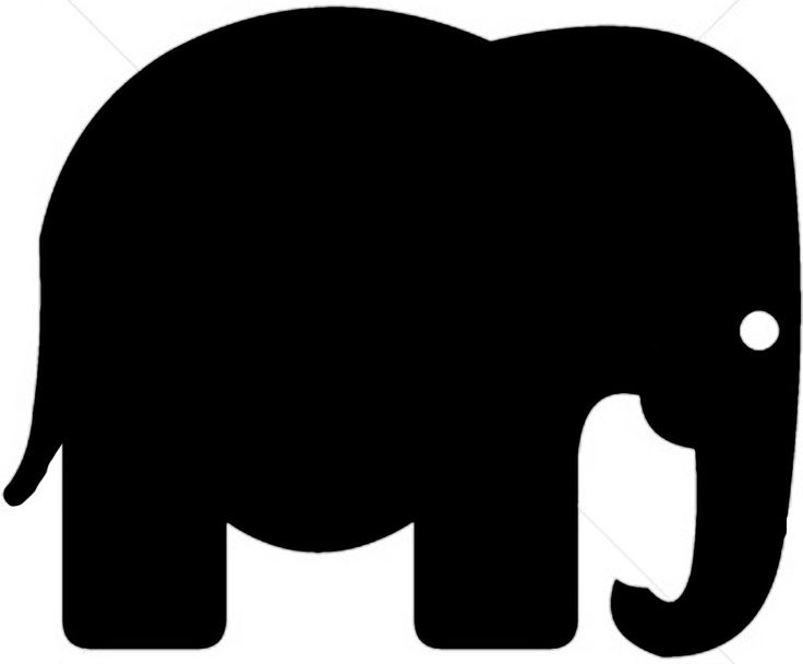 736x608 Green Elephant Outline Clipart