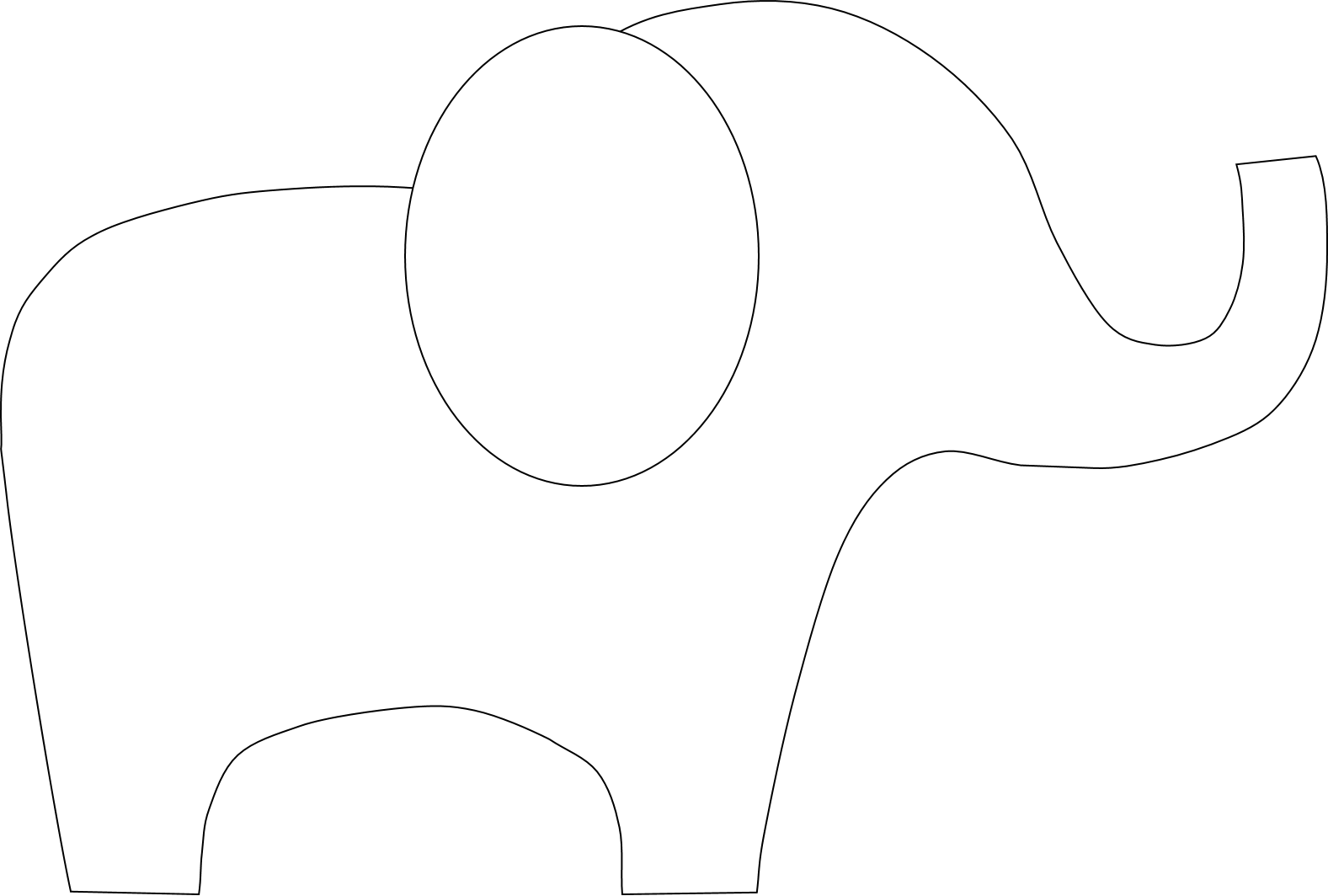 1577x1064 Best Elephant Outline