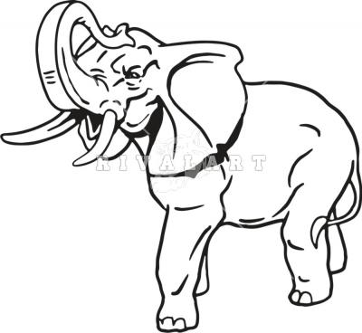 400x368 Drawn Elephant Trunk Up
