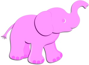 300x219 Elephant Clipart Image