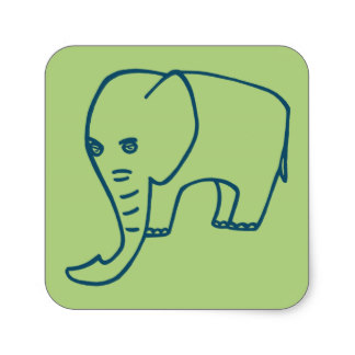 324x324 Elephant Trunk Stickers Zazzle