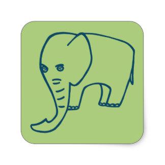 324x324 Elephant Trunk Stickers Zazzle