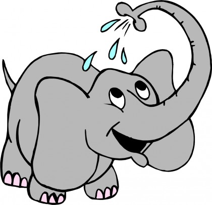 420x405 Elephant Clipart Water Spray