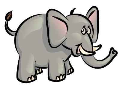 400x288 Tusk Clipart Elephant Trunk