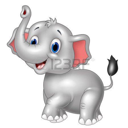 450x450 Vector Illustration Of Cartoon Elephant With Indian Classic