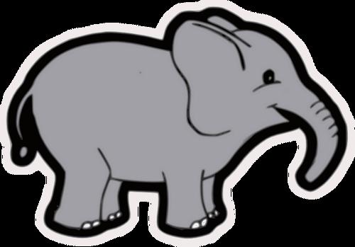 500x349 Baby Elephant Vector Clip Art Public Domain Vectors Clipartix