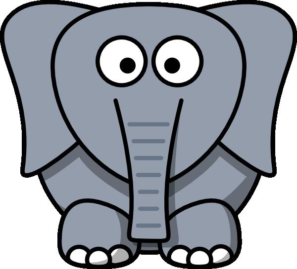 600x545 Cartoon Elephant Clip Art
