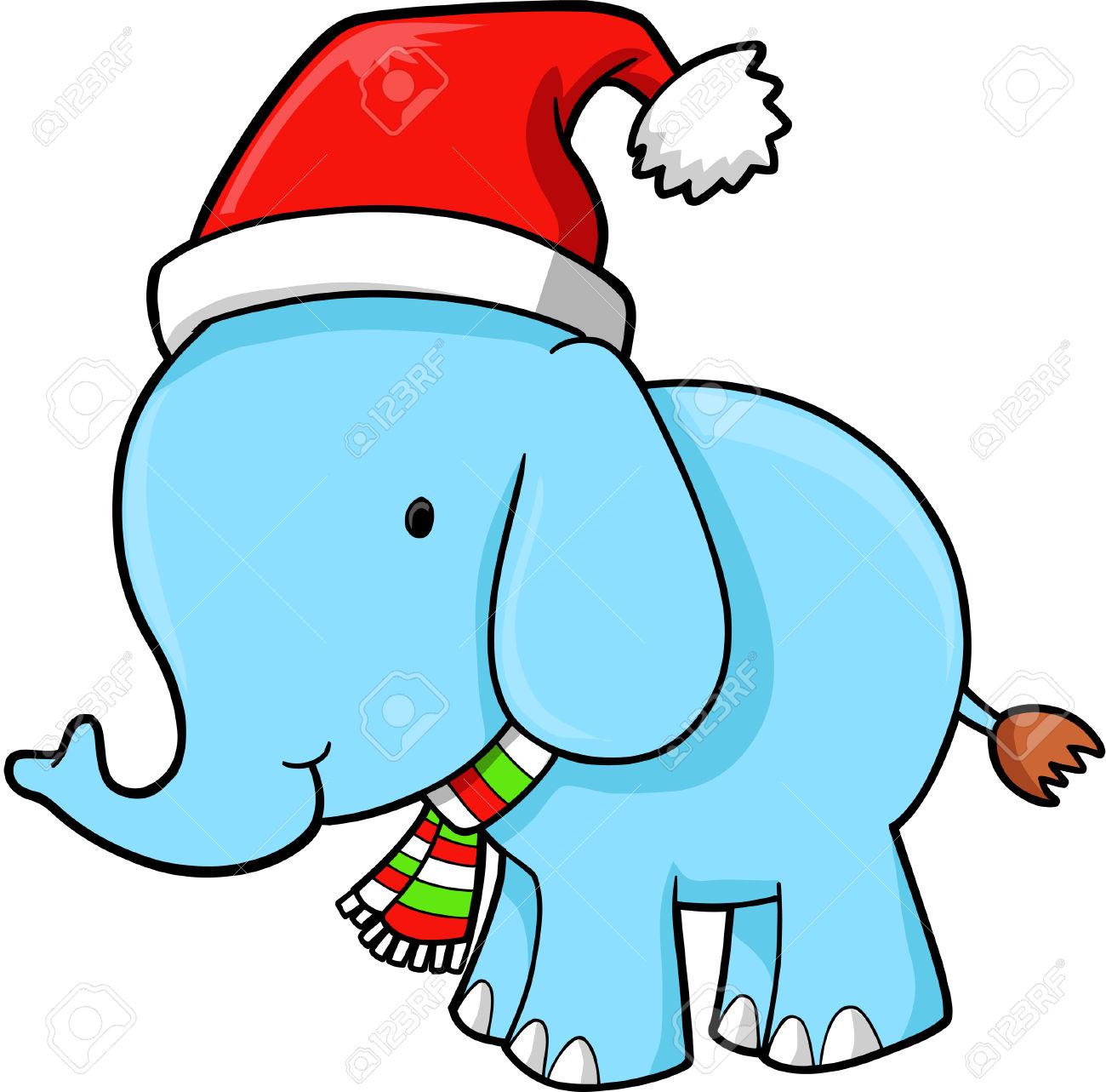 1300x1283 Christmas Clipart Elephant
