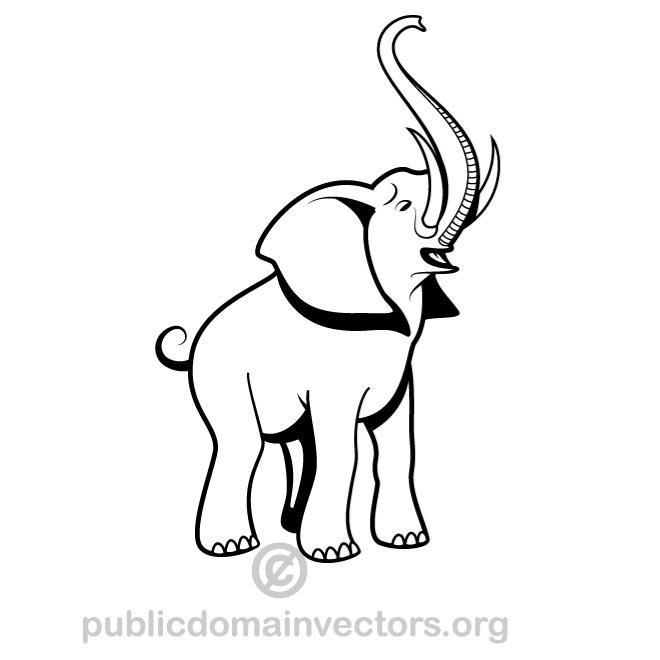 660x660 Elephant Vector Graphics Image