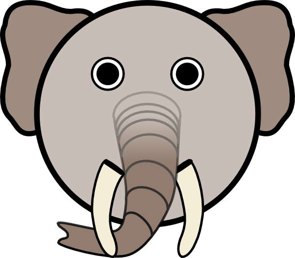 600x524 Elephant With Rounded Face Clip Art Free Vector 4vector