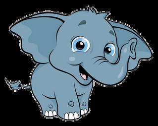 319x254 Free Baby Elephant Clipart Image