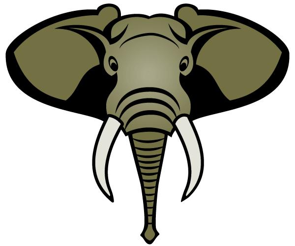 600x500 Free Elephant Head Vector Image 123freevectors