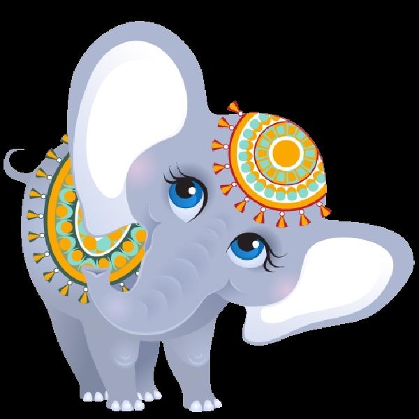 600x600 Funny Female Circus Elephant Elephants Clip Art