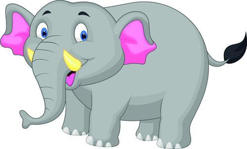 500x302 Lovely Cartoon Elephant Vector Free Vector In Encapsulated