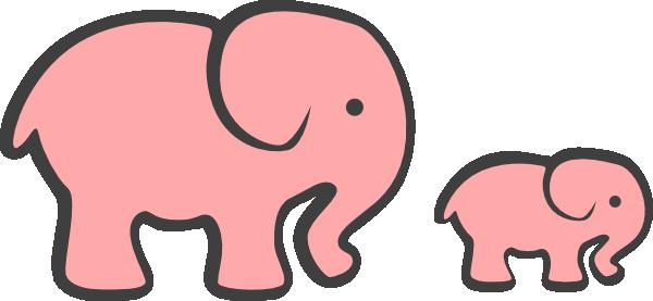 600x277 Pink Elephant Clipart