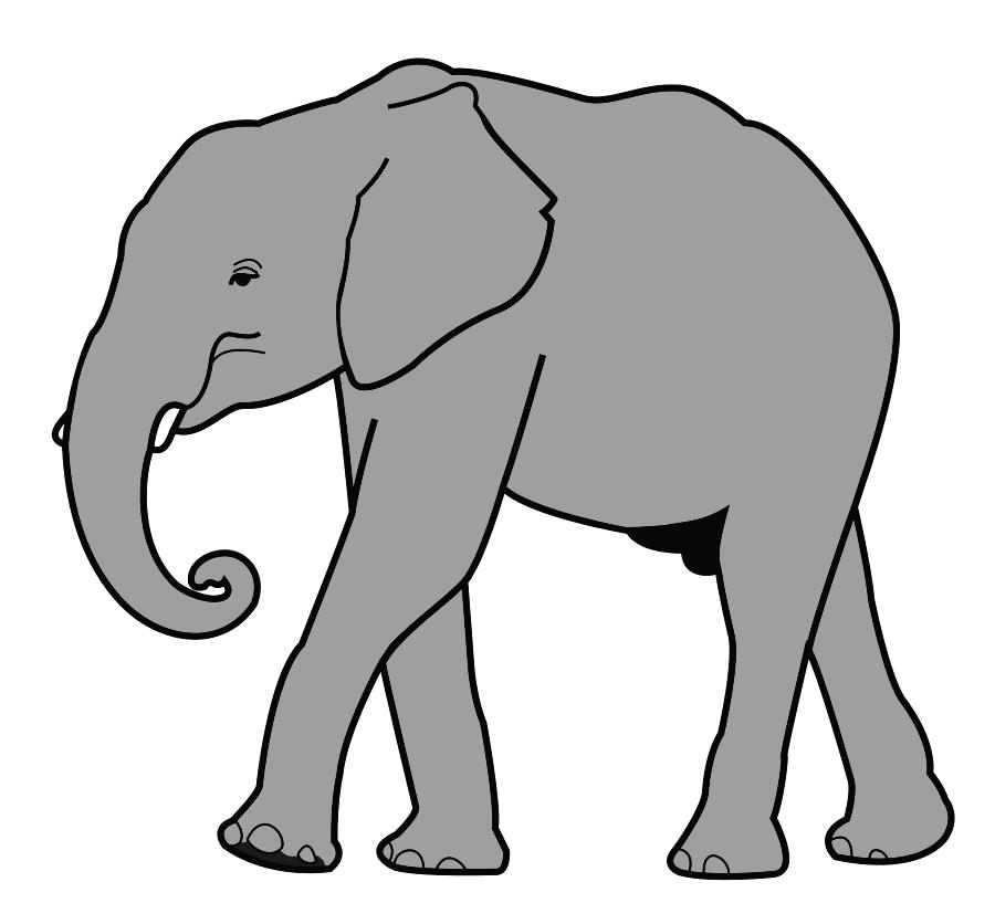 900x817 Tusk Clipart Gray Elephant