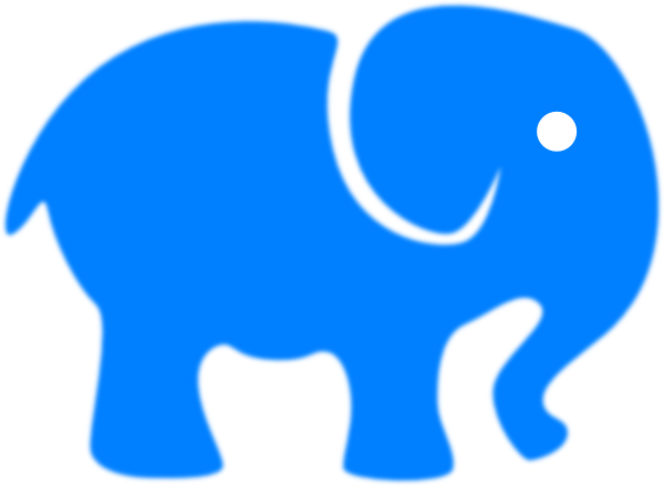 600x439 Baby Blue Elephant Clip Art