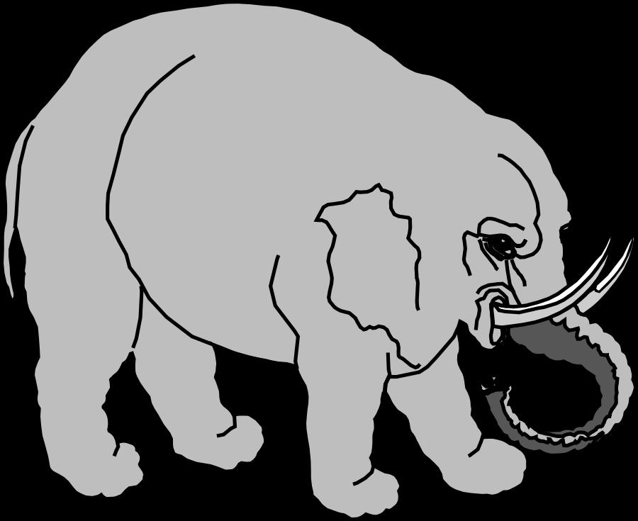 900x735 Baby Elephant Vector