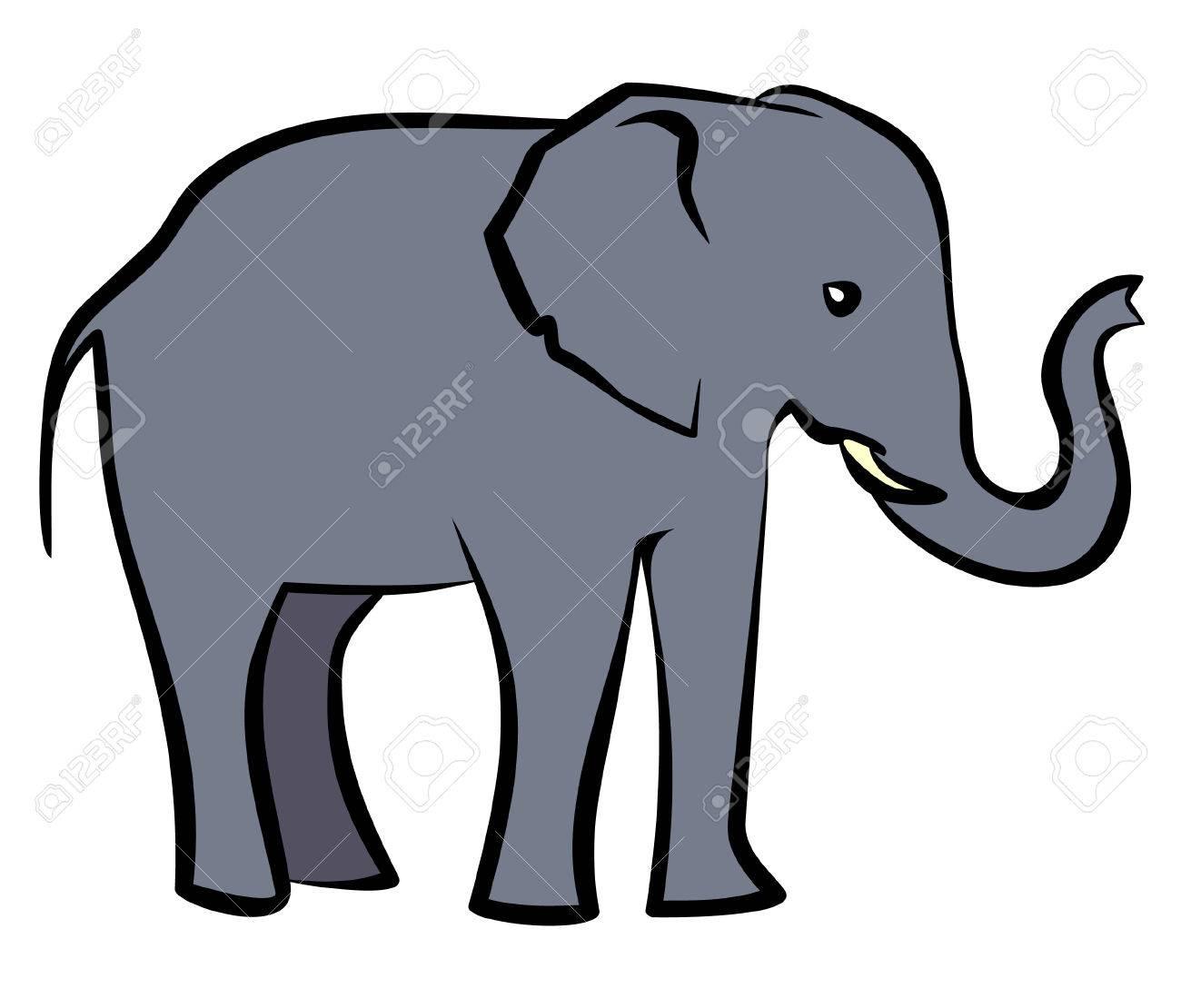 1300x1110 Baby Elephant. Vector Illustration Royalty Free Cliparts, Vectors