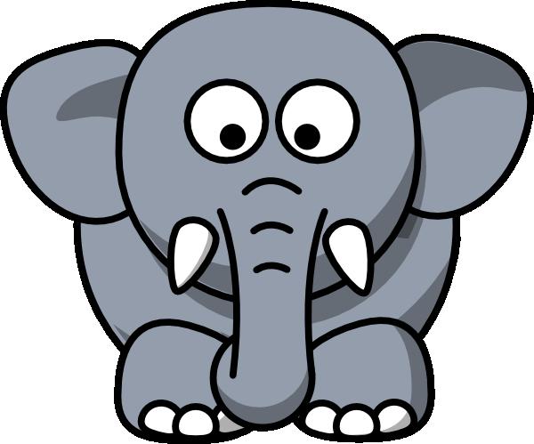 600x499 Gray Elephant Clip Art