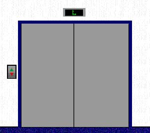 300x265 Elevator Door Clipart