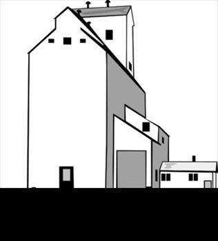 316x350 Free Grain Elevator Clipart