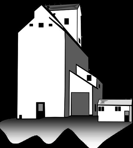 451x500 Grain Elevator Vector Public Domain Vectors