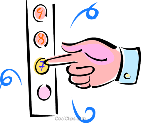 480x419 Hand Pushing Elevator Buttons Royalty Free Vector Clip Art
