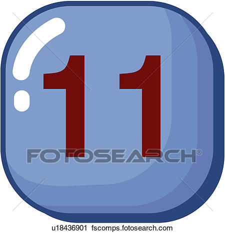 450x466 Clipart Of Number, Icon, Logo, Eleven, Sign, 11 U18436901