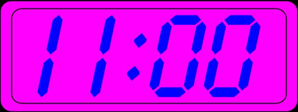 600x226 Digital Time Clipart