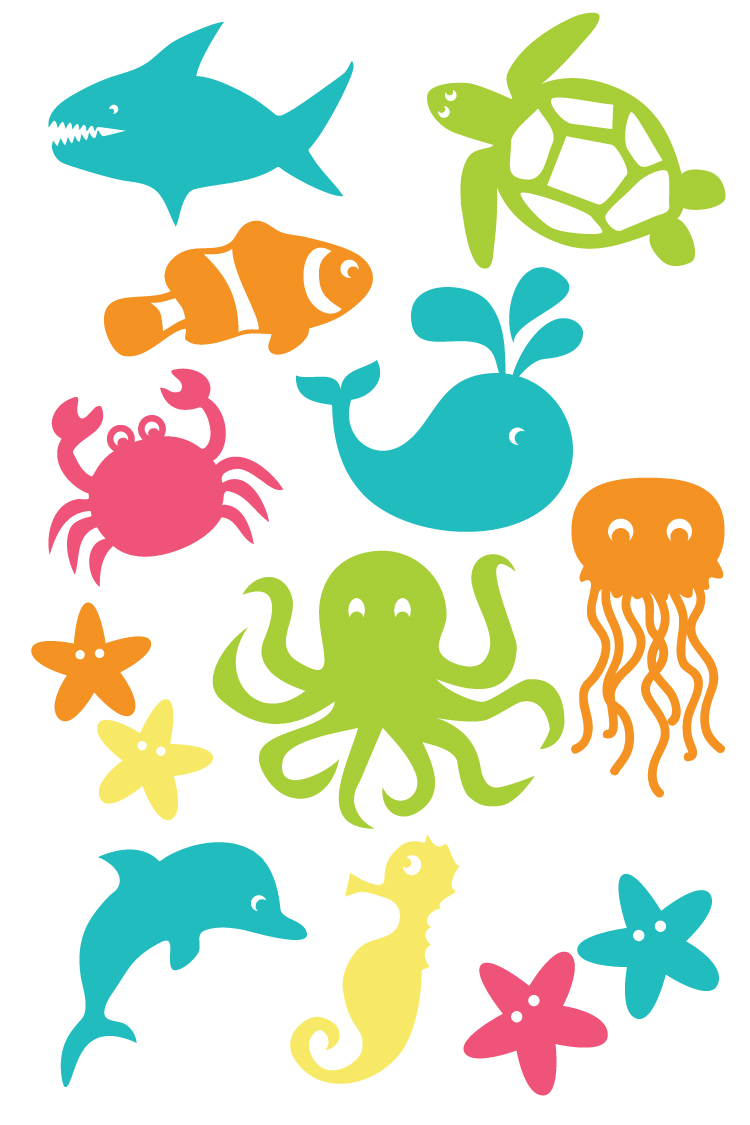 750x1125 Under The Sea Cut Files And Clip Art