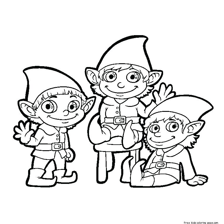 765x765 Elf Black And White Free Printable Pictures Clip Art Coloring