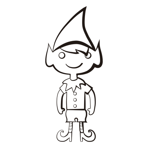 512x512 Elf Png Black And White Transparent Elf Black And White.png Images