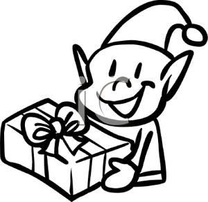 300x292 Elf Clipart Black Christmas