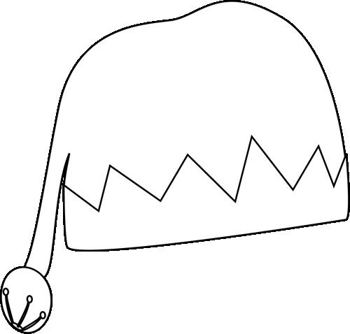 500x478 Black And White Elf Hat Clip Art