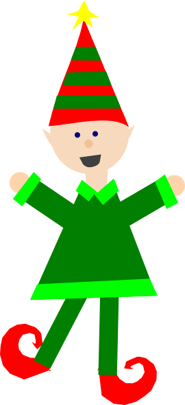 270x589 Christmas Elf Clip Art